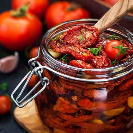 Getrocknete Tomaten in Olivenöl - Mani Blaeuel - Bio - 180g