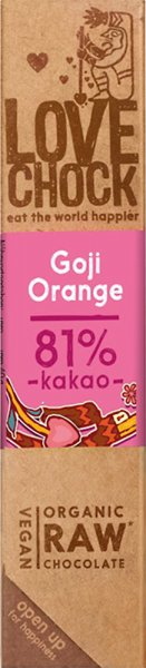 Lovechock Riegel Goji-Beere / Orange - Bio - 40g