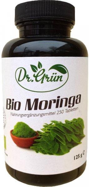 Moringa Tabletten Dr. Grün - Bio - 250 Stk.