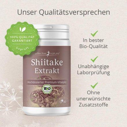 Shiitake-Extrakt in Bio-Qualität