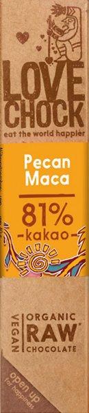Lovechock Riegel Pecan / Maca - Bio - 40g