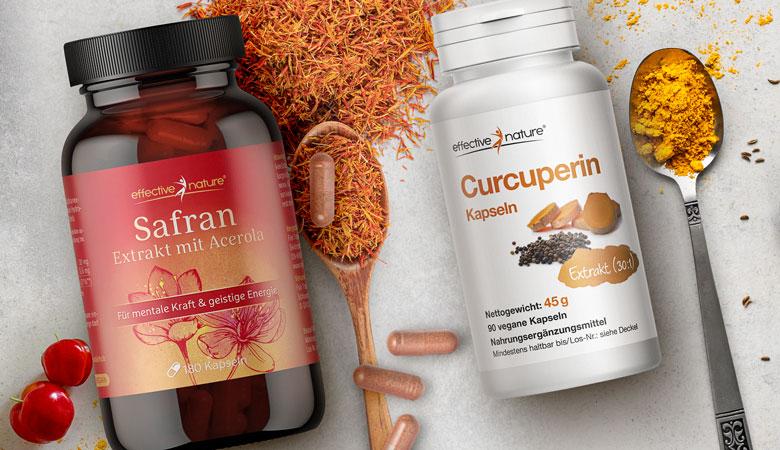Safran und Curcuperin von effective nature