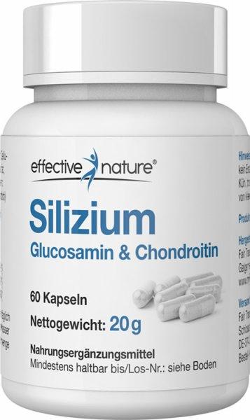 Silizium Kapseln mit Glucosamin & Chondroitin - 60 Stk. - 20g