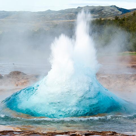 Natürliches Silizium aus Island