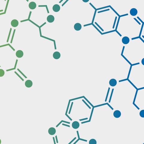 Chemische Gitterstruktur einer Aminosäure