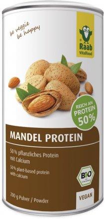 Bio Mandelprotein Pulver mit 50% pflanzlichen Proteinen und Calcium