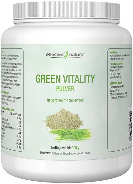 Green Vitality Pulver - Reisprotein mit Superfood - 900g