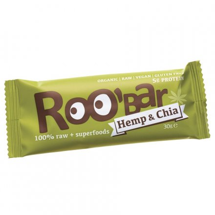 Roo'bar Hemp & Chia - Bio - 30g