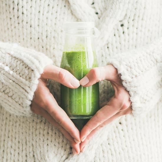Grüne Smoothies mit Grassaftmix