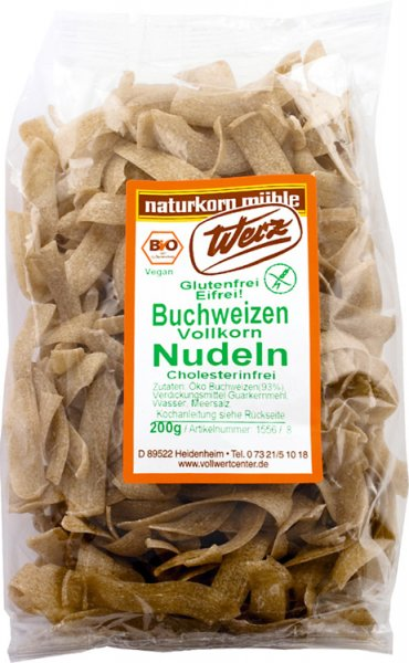 Buchweizen-Vollkorn Nudeln - Bio - 200g