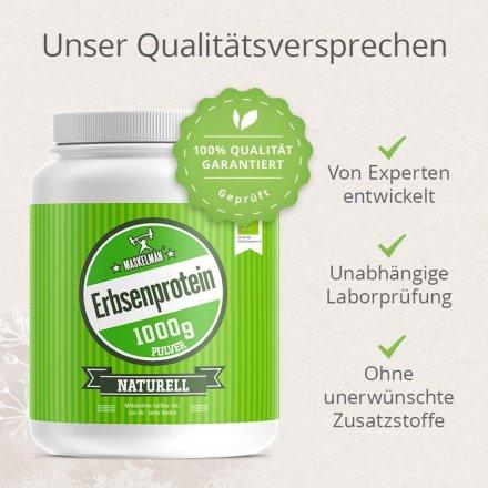 Erbsenprotein Pulver Naturell 82% - Bio - 1000g