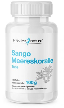 Sango Sea Coral as Convenient Tablets