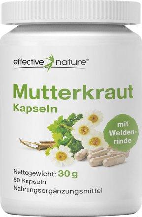 Mutterkraut-Kapseln mit Weidenrinde - 60 Stk. - 30g