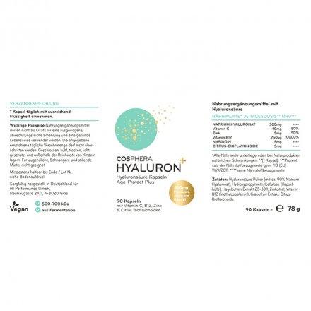 Hyaluron Kapseln mit Vitamin C & B12 und Zink