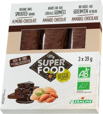 Gekeimte Müsliriegel - Mandel und Schokolade - Bio - 3 x 39g