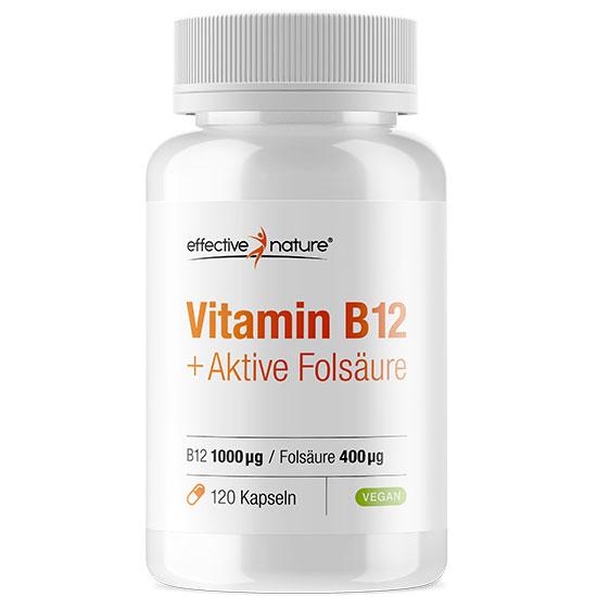 Vitamin B12 Kapseln mit Folsäure
