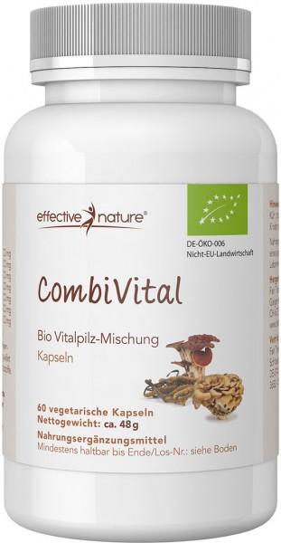CombiVital - Vitalpilz-Mischung Kapseln - Bio - 60 Stk. - 48g