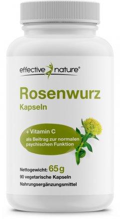 Rosenwurz (Rhodiola rosea) mit Acerola Extrakt - 90 Kapseln
