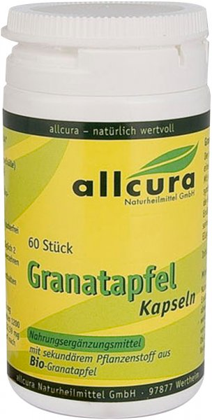 Granatapfel Kapseln - Bio - 60 Stk. - 36g