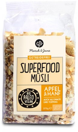 Superfood Müsli Apfel & Hanf