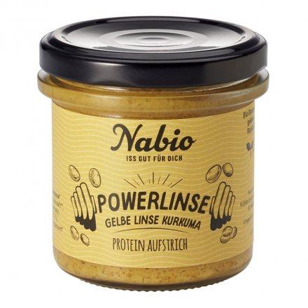 Protein-Aufstrich Powerlinse Gelbe Linse Kurkuma - Nabio - Bio - 140g