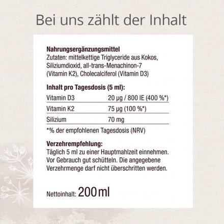 Vitamin-Silizium mit D3 und K2 - 200ml