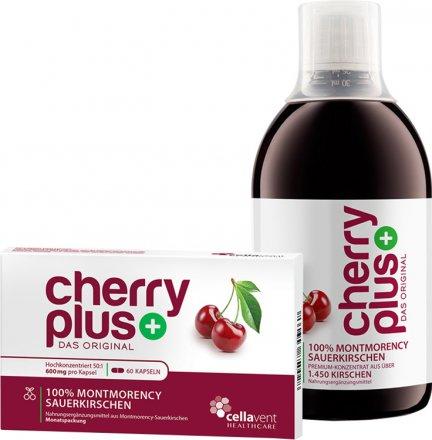 CherryPLUS - Montmorency-Sauerkirschen-Konzentrat 473ml + Kapseln 60 Stück