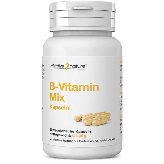 Vitamin B Kapseln mit allen 8 B-Vitaminen