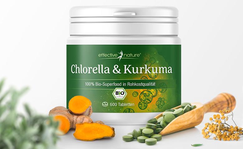 Chlorella & Kurkuma von effective nature