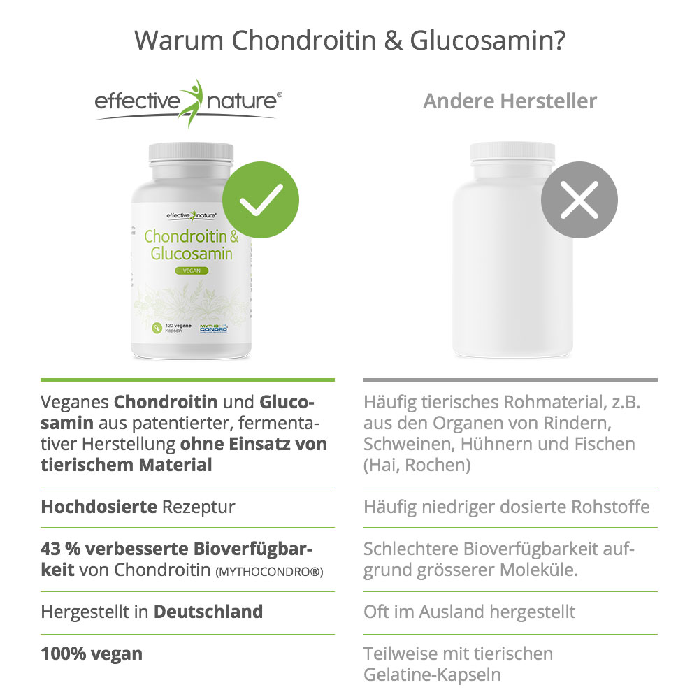 Die Vorteile von Chondroitin&Glucosamin