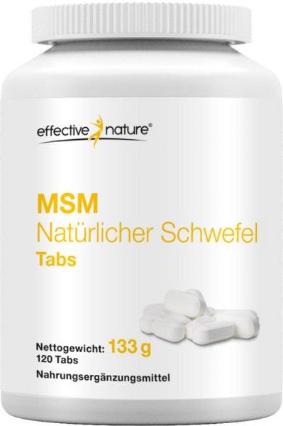 MSM natürlicher Schwefel Tabletten - 120 Stk. - 133g