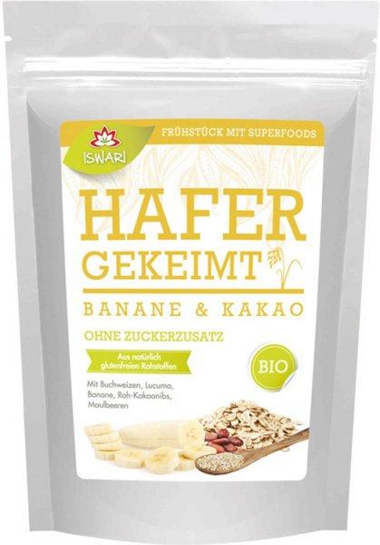 Basenüberschüssiges Frühstück - Gekeimter Hafer - Banane - Kakao - Bio - 360g