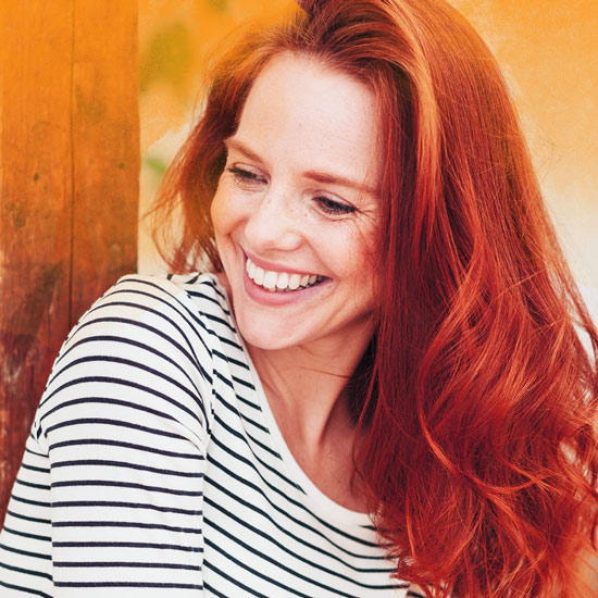 Happy women with red hair