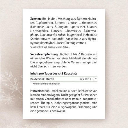 Darmfloraaufbau light – Ein-Monats-Kur