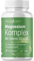 Magnesiumkomplex mit Vitamin D3 & K2 Kapseln - 90 Stk. - 52g