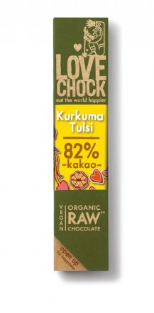 Raw Chocolate Kurkuma & Tulsi - Bio - 40g