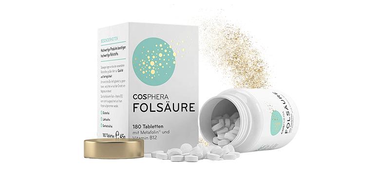 Hochdosierte Folsäure von Cosphera