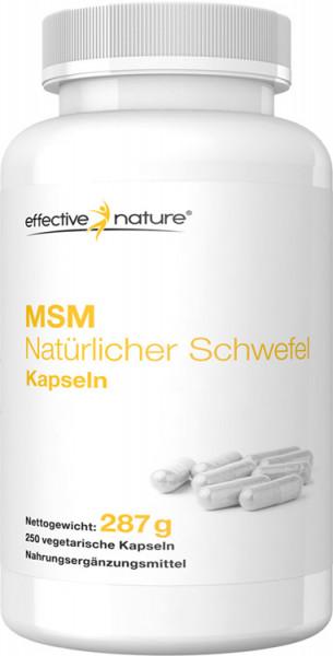 MSM natürlicher Schwefel Kapseln - 250 Stk. - 287g