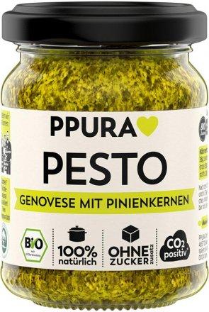 Pesto Genovese - traditionell mit Basilikum und Pinienkernen
