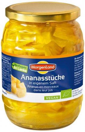 Ananas Stücke - Morgenland - Bio - 720ml