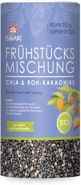 Frühstücksmischung - Chia & Roh-Kakaonibs - Bio - 800g