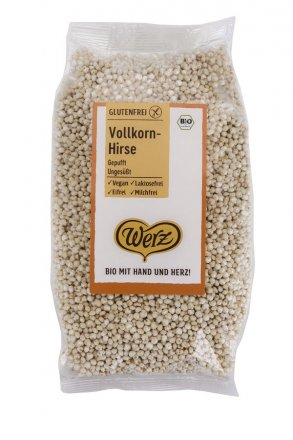 Gepuffte Vollkorn-Hirse - in Bio-Qualität