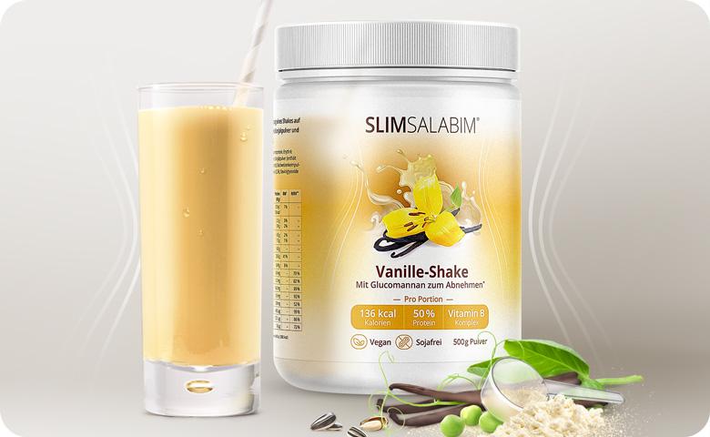Slimsalabim Vanille - der vegane Abnehmshake