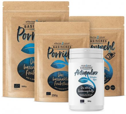 4 basenaktive Produkte zum Vorteilspreis