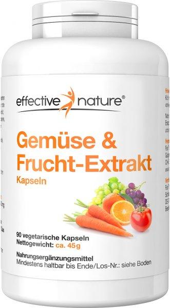 Gemüse und Fruchtextrakt Kapseln - 90 Stk. - 45g