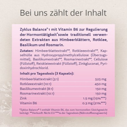 Zyklus Balance® 1 mit Himbeerblattextrakt