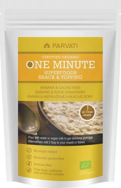 One Minute Snack - Banane & Rohe Kakaonibs - Bio - 300g