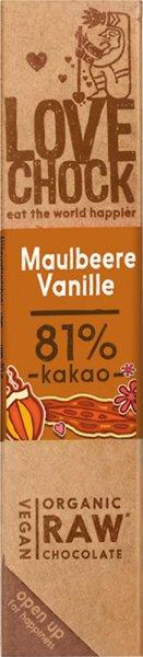 Lovechock Riegel Maulbeere / Vanille - Bio - 40g