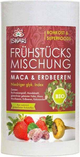 Frühstücksmischung Maca-Erdbeeren - Bio