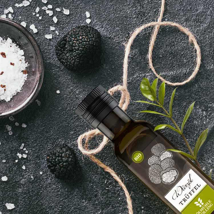 Trüffel-Olivenwürzöl von Ölmühle Solling